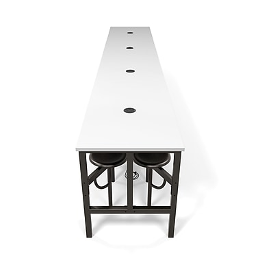 OFM Endure Series Standing Height Sixteen Seat Table, DarkVein/White (845123080160)