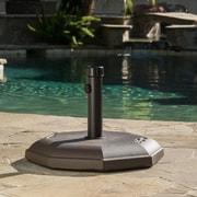 Home Loft Concepts Concrete Umbrella Base; Brown