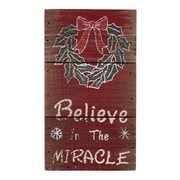 AttractionDesignHome Believe in the Miracle Christmas Sign; 7'' H x 4'' W