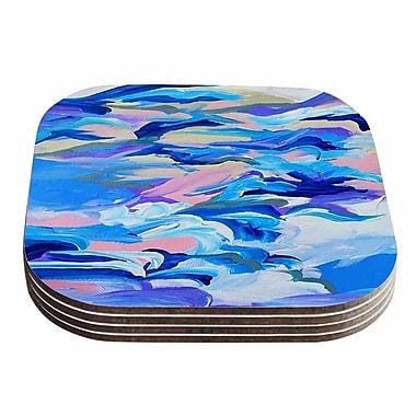 KESS InHouse Still Up In The Air Magenta Coaster (Set of 4); Blue / Purple