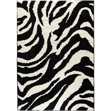 Well Woven Madison Shag Black Safari Area Rug; 6'7'' x 9'10''