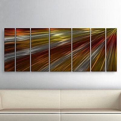 All My Walls 'Warm Rays Of Light' by Ash Carl 7 Piece Graphic Art Plaque Set WYF078276363644