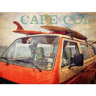 Graffitee Studios Cape Cod Surf Painting Print on Wrapped Canvas