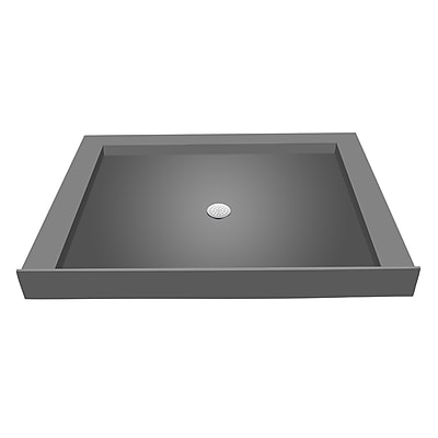 Tile Redi Triple Threshold Shower Base w/ Drain Plate; 5.75'' H x 48'' W x 36'' D
