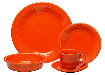 Fiesta 5 Piece Place Setting, Service for 1; Poppy