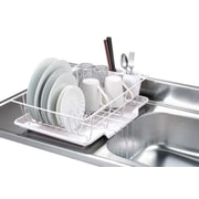 Home Basics 3 Piece Dish Rack w/ Tray; White