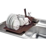Home Basics 3 Piece Dish Rack w/ Tray; Bronze