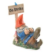 Zingz & Thingz Garden Gnome on Strike Statue