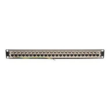 Tripp Lite Rackmount STP Shielded Cat6 / Cat5 Feedthrough Patch Panel RJ45 Ethernet, Patch panel, 1U, 19