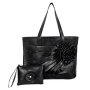 Parinda June Black Faux Leather Tote (11065)