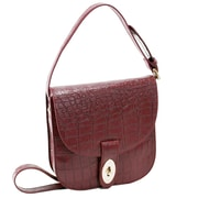Parinda Maya Red Textured Faux Leather Crossbody (11146)