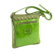 Parinda Emet Green Quilted Faux Leather Crossbody (11191)