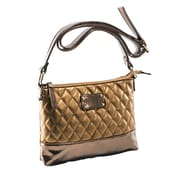 Parinda Cara Bronze Quilted Faux Leather Crossbody (11202)