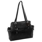 Parinda Felicity Black Pebble Grain Faux Leather Tote (11255)