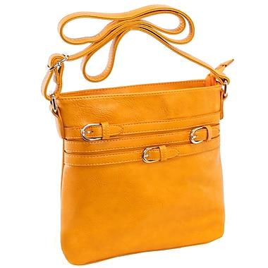 Parinda Clarice Ii Mustard Tan Faux Leather Crossbody (11274)