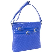 Parinda Clarice Blue Quilted Faux Leather Crossbody (11278)
