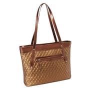 Parinda Fiona Bronze Quilted Faux Leather Tote (11282)
