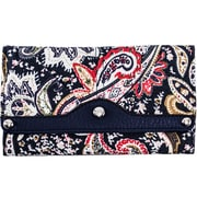 Parinda Madaline Navy Paisley Tri-Fold Snap Closure Wallet (11312)