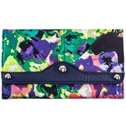 Parinda Madaline Purple Floral Fabric Tri-Fold Snap Closure Wallet (11319)