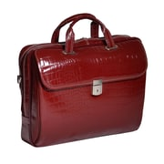 Siamod Settembre Monterosso Cherry Red Italian Crocco Leather Ladies Laptop Brief (35526)