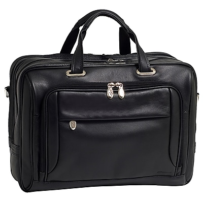 McKlein West Loop Expandable Double Compartment Briefcase,