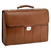 "NORTH PARK Brown 15.6"" Leather Executive Briefcase (46554)"