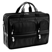 McKlein USA Hubbard P Series Black Tech-Lite Ballistic Nylon Laptop Case (58435)