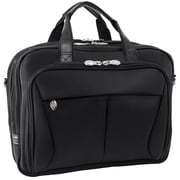 "PEARSON Black 17"" Expandable Double Compartment Briefcase (74565)"