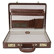 McKlein Daley Attache Briefcase, Top Grain Cowhide Leather, Brown (80434)