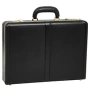 REAGAN Black Leather Attache Case (80445)