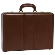McKlein Coughlin Expandable Attache Briefcase, Top Grain Cowhide Leather, Brown (80464)