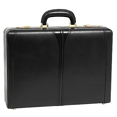 McKlein Turner Expandable Attache Briefcase, Top Grain
