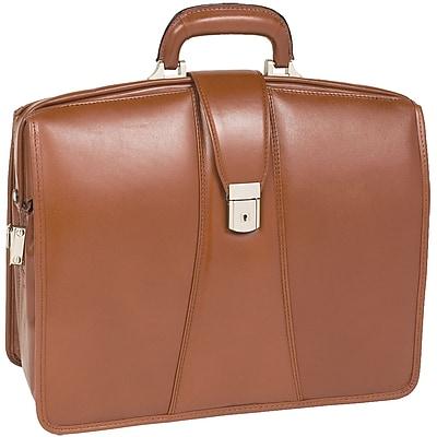 McKlein V Series, HARRISON, Top Grain Cowhide Leather,Partners Laptop Briefcase, Brown (83384)