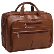 McKlein USA Rockford R Series Brown Full Grain Cowhide Leather Laptop Case (86514)