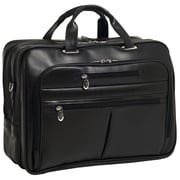 McKlein USA Rockford R Series Black Full Grain Cowhide Leather Laptop Case (86515)