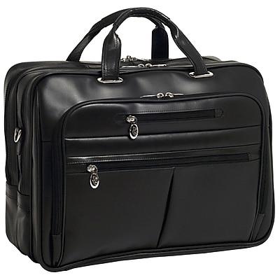 McKlein Rockford, Checkpoint-Friendly Laptop Briefcase, Top Grain Cowhide Leather, Black (86515)