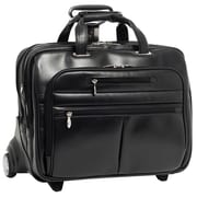 McKlein USA Ohare R Series Black Full Grain Cowhide Leather Detachable Wheeled Laptop Case (86535)