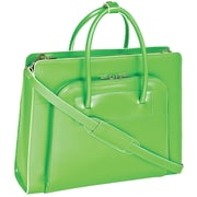 McKlein USA Lake Forest W Series Green Top Grain Leather Women Case with Removable Case (94331)