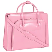 McKlein USA Lake Forest W Series Pink Top Grain Leather Women Case with Removable Case (94339)