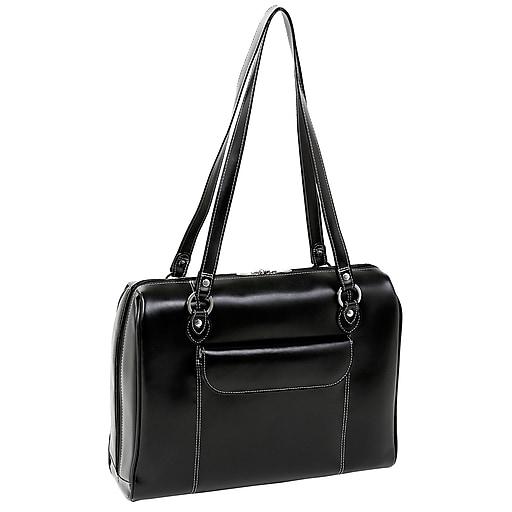 McKlein USA Glenview W Series Black Top Grain Leather Ladies Laptop Case  (94745)  eebb7aa651