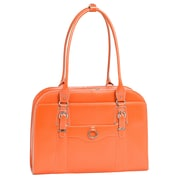McKlein USA Hillside W Series Orange Top Grain Leather Ladies Briefcase (96520)