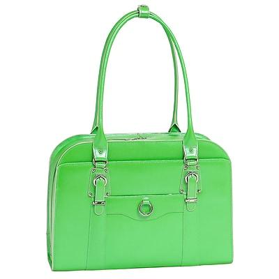 McKlein W Series, HILLSIDE, Genuine Cowhide Leather, Ladies' Laptop Briefcase, Green (96521)