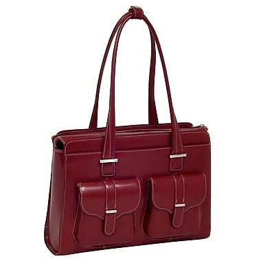 McKlein USA Alexis W Series Red Top Grain Leather Ladies Briefcase (96546)
