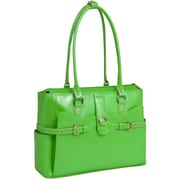 McKlein W Series, WILLOW SPRINGS, Genuine Cowhide Leather, Ladies' Laptop Briefcase, Green (96561)