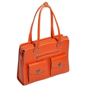 McKlein USA Verona W Series Orange Top Grain Leather Ladies Briefcase(96620)