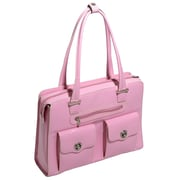 McKlein USA Verona W Series Pink Top Grain Leather Ladies Briefcase (96629)