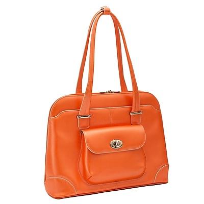 McKlein W Series, AVON, Genuine Cowhide Leather, Ladies' Laptop Briefcase, Orange (96650)