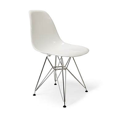 Aeon Furniture Chantal Side Chair; White Gloss