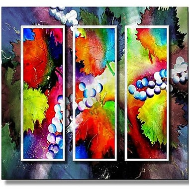 All My Walls 'Grapes' by Richard Graves 3 Piece Painting Print Plaque Set
