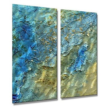 All My Walls 'Water Swept' by Kelli Money Huff 2 Piece Graphic Art Plaque Set